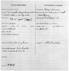 re ing rosa parks s arrest documents