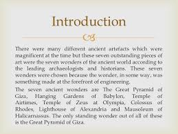 essay on  wonders of the world  wwwgxartorg the ancient and my modern wonders of the world