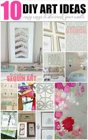 decorating ideas wall art decor:  diy wall art ideas easy amp inexpensive ways to decorate your walls