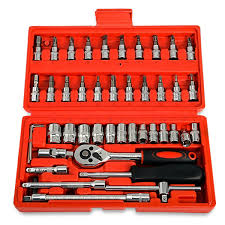 <b>46pcs Automobile</b> Motorcycle <b>Car</b> Repair Tool Set Precision <b>Ratchet</b>