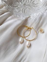 <b>Pearl earrings</b>, dainty <b>pearl earrings</b>, <b>baroque pearl earrings</b>, white ...