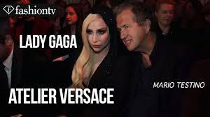 Lady Gaga at Versace Spring/Summer <b>2014 Arrivals</b>   Paris Haute ...