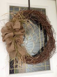 Decorating With Burlap Rustic Burlap Wreath Want To Make One For Our Front Door With
