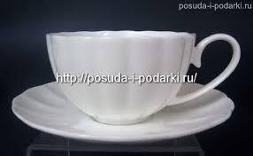 (<b>чайный набор</b>) на 6 персон <b>Магнолия</b> белая 250 мл бренда ...