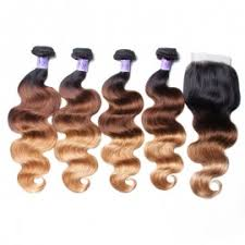 spark ombre peruvian hair human bundles with closure loose deep wave remy extensions