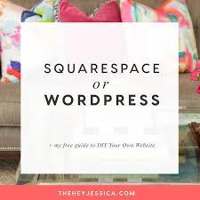 wordpress vs squarespace hey jessica
