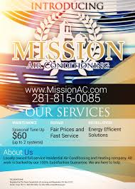 local hvac company advertisement mission air conditioning poster flyer hvac company advertising