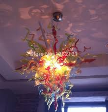 free shipping ac led handmade unusual colored glas cheap lighting fixtures