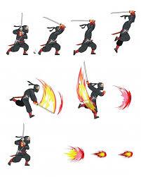 Ninja cartoon game animation sprite Prem... | Free Vector #Freepik ...