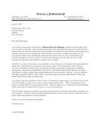 cover letter to hr template cover letter to hr