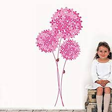 Buy Happy Walls <b>Pink Large Flower</b> Bunch with Small & Big Flowers ...