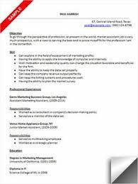 babysitter resume sample   resume examples   pinterest    marketing assistant resume sample