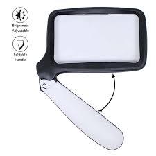Peroptimist <b>Rectangular Handheld</b> Magnifying Glass, Magnifier with ...