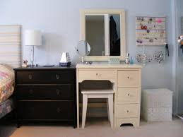 glass bedroom furniture rectangle shape wooden cabinets: white wooden make up vanity mirrored