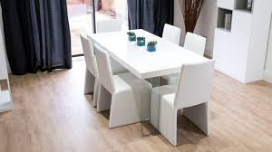 Funky Dining Room Furniture Contemporary White Gloss Dining Set Calanna White Gloss And Rimini