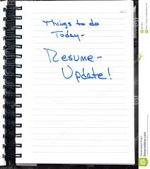 note to update resume stock image image 8327821 note to update resume