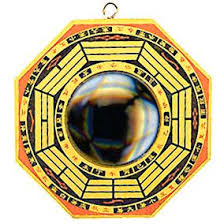 traditional mirror centered wooden concave bagua feng shui bad feng shui mirror