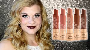 <b>Too Faced</b> Natural Nudes Lipsticks - Review + Entire Collection ...