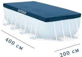 <b>Intex 28037</b>, <b>тент</b> для прямоугольного бассейна, 400x200см ...
