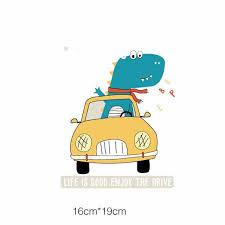 Online Shop <b>Prajna</b> Iron-on Transfers SUV <b>Cartoon</b> Rocket ...