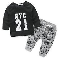NWAD Milk Bottle Print baby boy <b>clothes 3PCS</b>/<b>Set</b> Newborn Baby ...