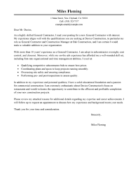 best general contractor cover letter examples livecareer edit