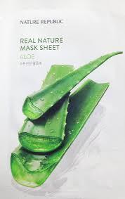 <b>NATURE</b> REPUBLIC~<b>Тканевая маска</b> с <b>алоэ</b>~Real <b>Nature</b> Mask ...