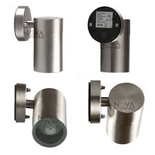 2pcs gu10 wall mount sconce lighting outdoor gz10 garden wall lamp 5w led exterior light cheap industrial lighting