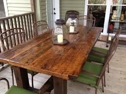 table barn wood reclaimed rustic kitchen furniture