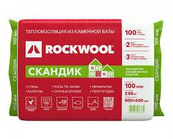 <b>Теплоизоляция ROCKWOOL Лайт Баттс</b> СКАНДИК 800*600*100 ...