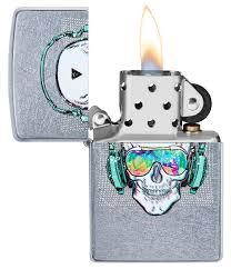 "<b>Зажигалка</b> ""<b>Zippo</b>. <b>Skull Headphone</b>"" с покрытием Street Chrome ..."