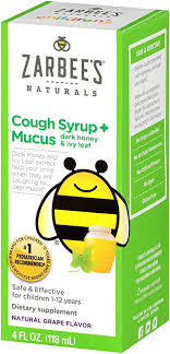 Zarbee's Naturals <b>Children's Cough Syrup</b>* + Mucus with <b>Dark</b>