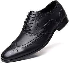 Jumuland <b>Men's</b> Business Leather Dress Shoes Classic Modern ...
