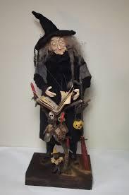 folk art wise witch owl