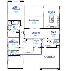 master bedroom measurements floor plan illustrating how space is distributed in an average new home