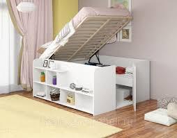Двуспальная <b>кровать Twist</b> up <b>левая</b> белый: продажа, цена в ...