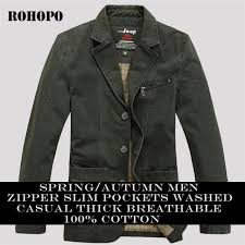 <b>ROHOPO</b> Men Blazer Thicken Cotton Single breast Blazer Male ...
