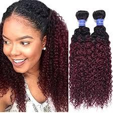 Amazon.com : <b>Ombre</b> Malaysian Hair Weave <b>T1B</b>/<b>99J</b> Kinky Curl ...