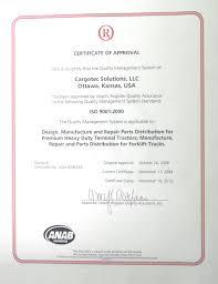 certifications for ottawa terminal trucks ottawa trucks na certifications