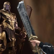 2019 <b>Thanos Double Edged</b> Sword <b>Avengers Endgame</b> Cosplay ...