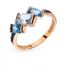 Золотое <b>кольцо</b> с топазами и фианитами <b>ЮВЕЛИРНЫЕ</b> ...