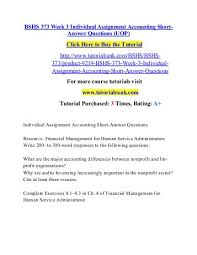 BSHS     Week   Individual Assignment Accounting Short Answer Questions  UOP  pdf