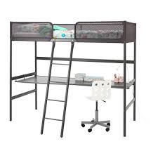 TUFFING loft <b>bed frame</b>, <b>dark grey</b>   IKEA Indonesia
