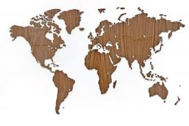 Каталог <b>Деревянная карта мира World</b> Map Wall Decoration ...