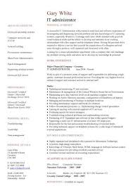 it administrator cv template resume it template