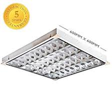 shop office suspended ceiling light cat2 4 x 18w complete with tubes cat 2 office lighting