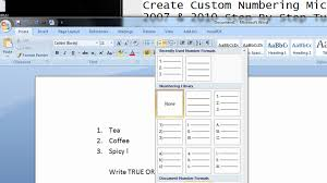 how to do create custom numbering microsoft office 2007 2010 how to do create custom numbering microsoft office 2007 2010 step by step tutorial