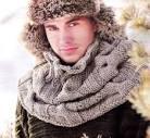 Узоры вязания шарф снуд