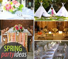 Spring Decorating Fine Spring Party Decorating Ideas Pompoms And Luminarias To Design