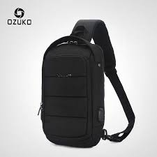 <b>OZUKO</b> 2019 New Multifunction Crossbody <b>Bag</b> for <b>Men</b> Anti theft ...
